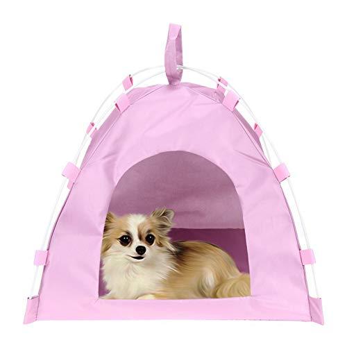 BOENTA Mascota Tiendas de campaña Casitas para Gatos Cama para Perro con sombrilla Casa de Perrito Interior Casa de Perro Perro Tienda Cama Pink