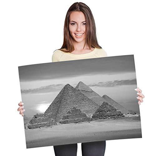 Póster de vinilo con diseño de pirámides egipcias de Giza Egipto, 90 x 60 cm, 180 g/m², papel fotográfico satinado brillante #35709