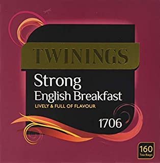 Twinings Strong English Breakfast Tea (160 Tea Bags) | Strong Black Tea For a Bold Traditional Breakfast