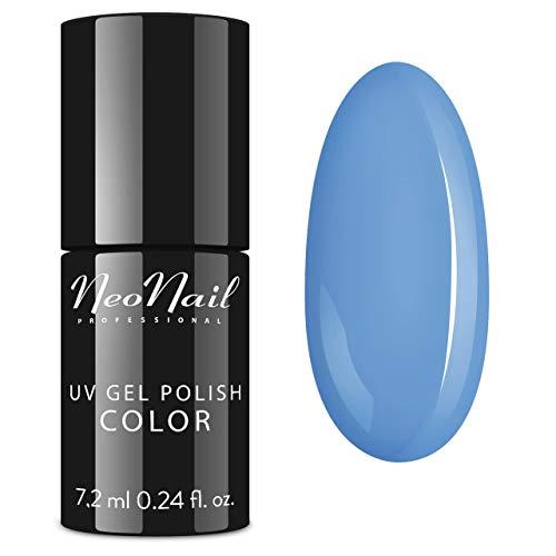 NeoNail UV Nagellack 7,2 ml - Candy Girl Delicious - UV Lack Gel Polish Soak off Nagellack UV Gel LED Polish Lack Shellac (5639-7 Blue Cream Jelly)
