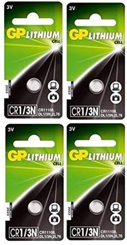 GP Batterien CR1/3N Lithium (CR11108) 3 Volt (3V) Knopfzellen für Standheizung, Kameras, Leselichter, etc. (4 Stück, einzeln entnehmbar)