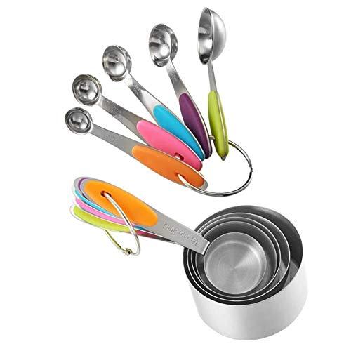 Y-longhair Espátula tazas de medir y cucharas Set de acero