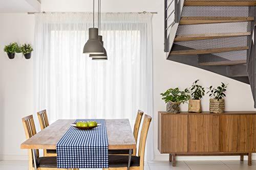 FILU Tischläufer 40 x 150 cm Dunkelblau/Weiß kariert (Farbe und Größe wählbar) - hochwertig gefertigter Tischläufer aus 100% Baumwolle im skandinavischen Landhaus-Stil