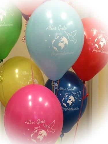berlin-ballons Luftballons 20 Stück zur Jugendweihe bunt Sortiert, ungefüllt
