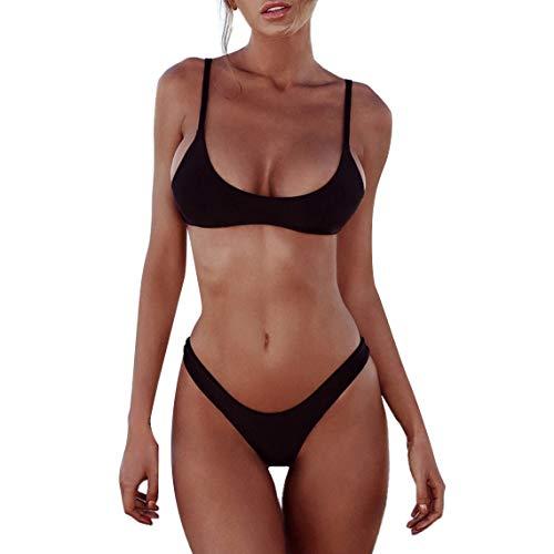 heekpek Bikini Mujer 2019 Push up con Relleno Bikini Bandeau para Mujer Push-Up Vendaje Traje de ba?o Brasile?o Traje de ba?os de Ropa de Playa