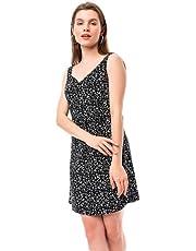 Rahat Kesim Yazlık Siyah Viskon Elbise