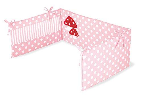Pinolino 650969-7 - Nestchen für Kinderbetten, 'Glückspilz' rosa