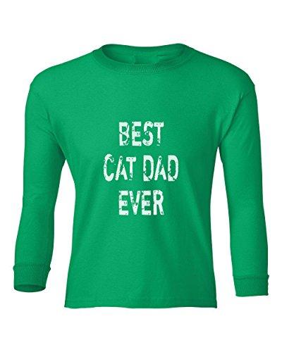 Marky G apparel Boys Best Cat Dad Ever T-Shirt Irish Green XL