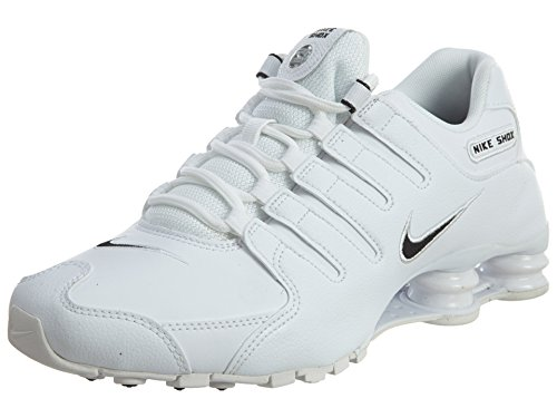 Nike Mens Shox NZ EU White Black Synthetic Leather Trainers 44.5 EU