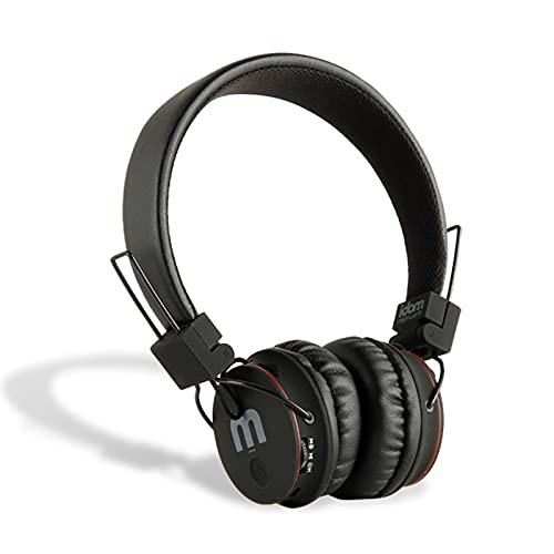 mobi mountain Over-Ear - Auriculares inalámbricos Bluetooth estéreo 3D plegables con 50 horas de reproducción, 4 modos de escucha y cable de carga USB, micrófono incorporado, Micro SD/TF, FM