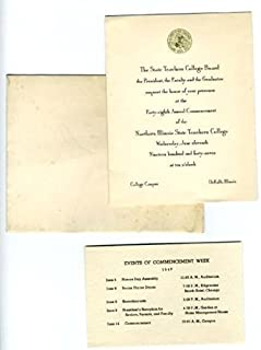 1947 Northern Illinois State Teachers College Commencement Invitation