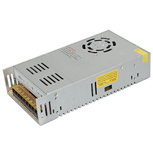 Surom 24V 15A Dc Universal Regulated Switching Power Supply 360W for CCTV, Radio, Computer Project
