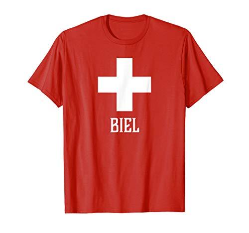 Biel, Switzerland - Swiss, Suisse Cross T-shirt