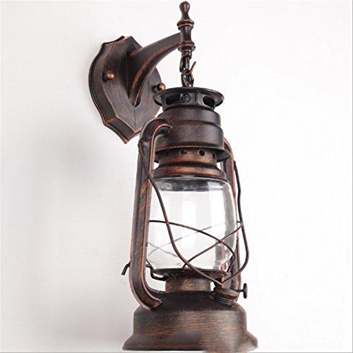 CHUANGJIE Antieke lantaarnbalkon LED Chinese nachtkastje-industriële wandlamp creatieve staaf wijnoogst-erosine lamp A