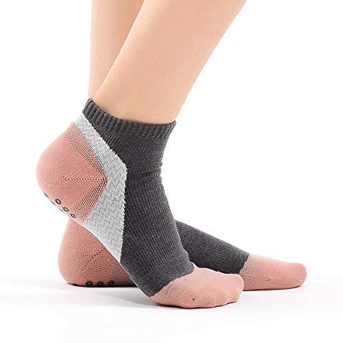 Wdonddonyjw Calcetines de Yoga Cubierta Antideslizante Suave Masaje del Dedo del pie de ventilación Cortos en Barco calcetín Cinco Dedos Calcetines Moda Antideslizante Piso Calcetines (Color : Pink)