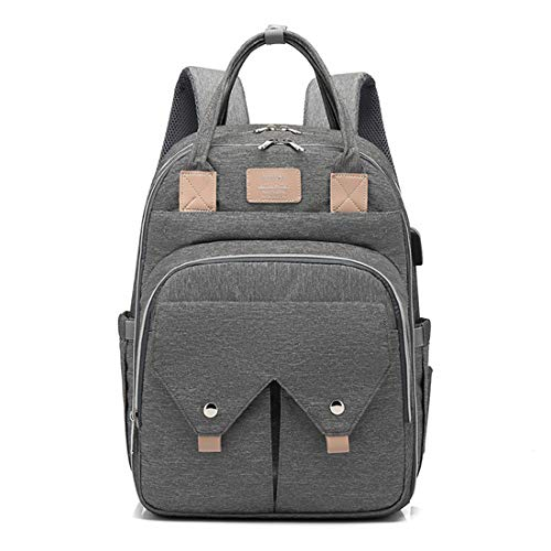 BigForest sac ? main Nappy Changing Bag Sacs ? Dos ? Langer pour B?b? Sac Mummy Backpack Baby Diaper Bag Maternity Tote Handbag grey