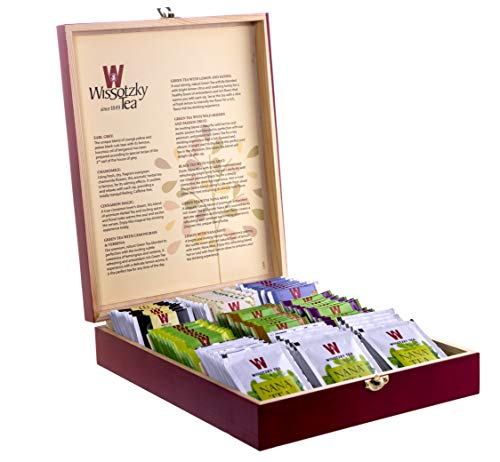 WISSOTZKY Mahogany Tea Chest (9 Flavors), 5.45-Ounce Boxes,10 Count (Pack of 9)