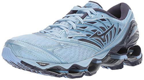 Mizuno Women's Wave Prophecy 8 Running Shoe, Angel Falls-Graphite, 8 B US