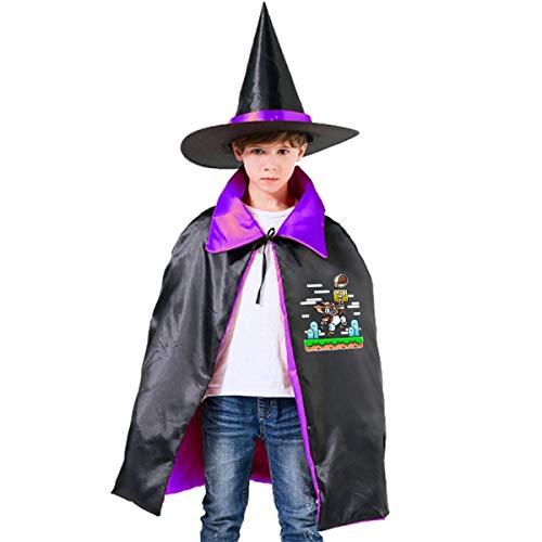 NUJSHF Gremlins Super Gizmo Bros Unisex Kinder Kapuzenumhang Umhang Umhang Cape Halloween Party Dekoration Rolle Cosplay Kostüme Outwear