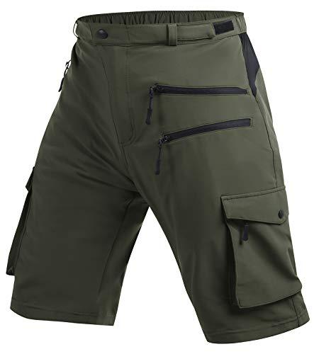 Cycorld MTB Hose Herren Radhose, MTB Shorts Atmungsaktiv Farradhose Hose Herren Outdoor Bike Shorts 2021 Version (Green, L)