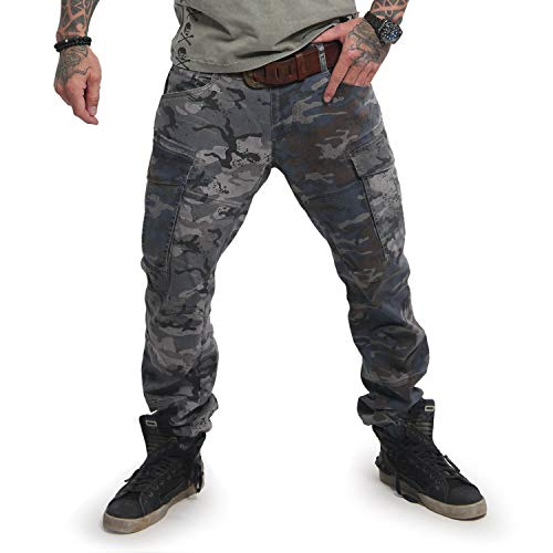 Yakuza Herren Harlekin Cargo Pants Bunt camoflage W 36