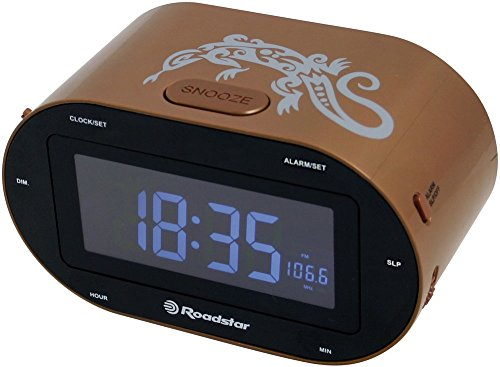 Roadstar clr-2750 Radiowecker (FM, Sleep/Snooze, LED-Display), braun