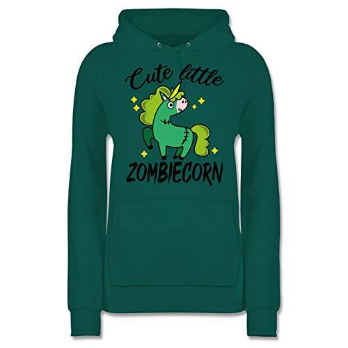 Halloween - Cute Little Zombiecorn - schwarz - L - Türkis - JH001F_Hoodie_Damen - JH001F - Damen Hoodie und Kapuzenpullover für Frauen