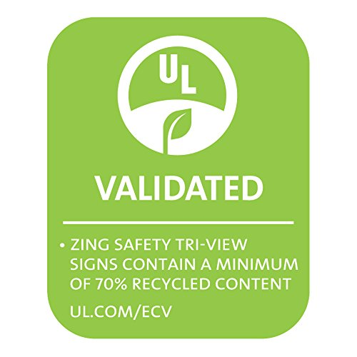 Zing Green Products Fire Extinguisher V Sign, White On Red, 7