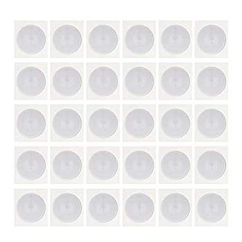 THONSEN 30pcs NTAG215 NFC Stickers Round 25mm 1 inch  Blank White NTAG 215 Tags Work Perfectly with TagMo Amiibo and All NFC-Enabled Cell Phones & Devices