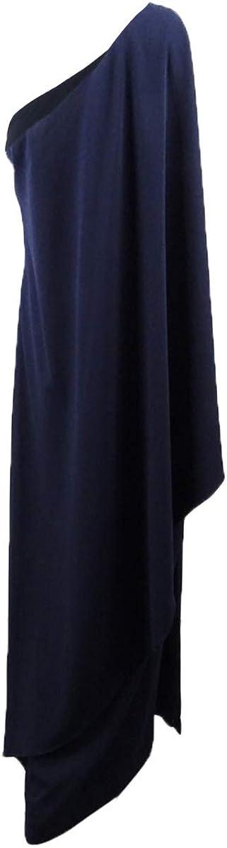 LAUREN RALPH LAUREN Women's One-Shoulder Crepe Gown