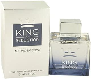 King of Seduction by Antonio Banderas Eau De Toilette Spray 3.4 oz for Men - 100% Authentic