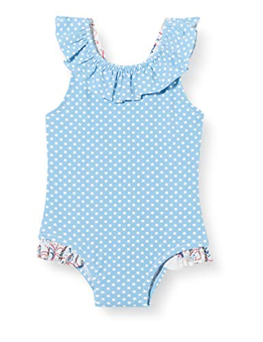 ZIPPY Bañador con Volantes para bebé niña SS20, Blue, 18/24M para Bebés