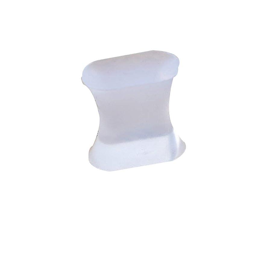 ステープル失う煙突男性と女性のスポーツ活動のためのジェル腱膜瘤矯正器とつま先スペーサーセパレーターと矯正矯正具-透明L