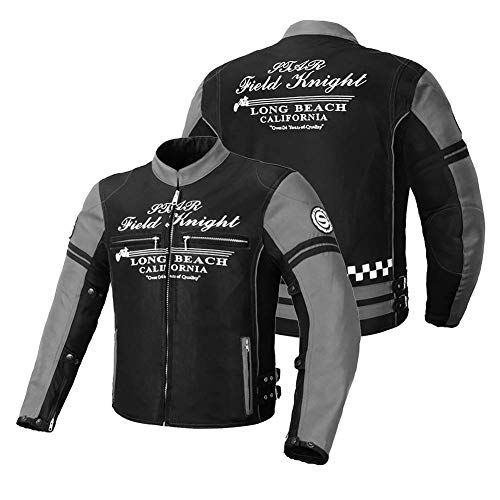 LALEO Unisex Bordado Corte Ajustado Chaqueta de Moto con Armours CE, Malla Transpirable Anti-caída Transpirable Impermeable Resistente Chaqueta para Motocicleta Hombres Mujeres