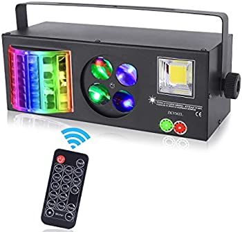 Zkymzl 4-In-1 Mixed Party Stage LED Pattern Strobe Lights