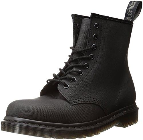 Dr. Martens Vegan 1460 Smooth Black Combat Boot, Fleix Rub, 9 UK/US Mens's 10 Women's 11 D US
