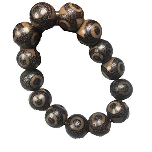 ZHIBO Dzi-Perlenarmband aus natürlichem Achat mit drei Augen, zum Basteln