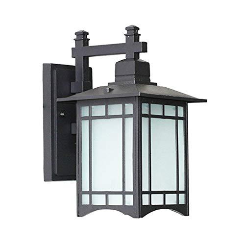 SSZZ wandlamp met retro-wandlamp voor buitenmuur, waterdicht, eenvoudig en mooi, geschikt voor de deur buitenshuis, ECC