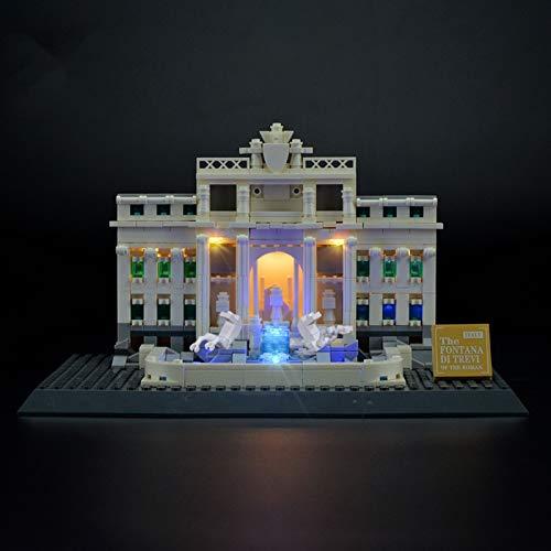 Kit De Iluminación Led para Lego Architecture Fontana De Trevi, Compatible con Ladrillos De Construcción Lego Modelo 21020 (NO Incluido En El Modelo)