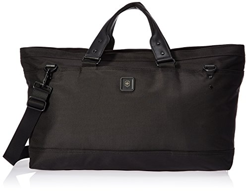 Victorinox Lexicon 2.0 Weekender Deluxe Carry-All Tote, Black, 13.4-inch