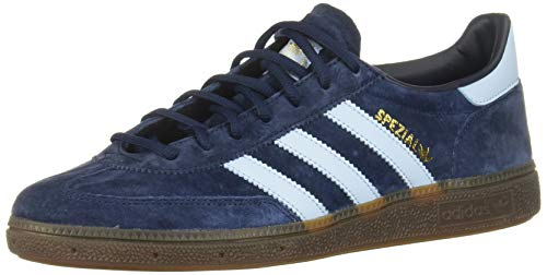 adidas Originals Mens Handball Spezial Sneaker, Collegiate Navy/Clear Sky/Gum