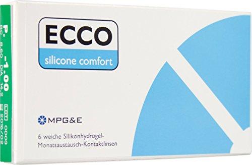 ECCO Silicone Comfort Toric Monatslinsen weich, 6 Stück, Astigmatism