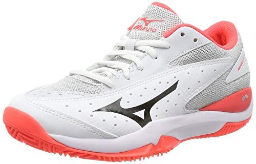 Mizuno Wave Flash CC, Zapatillas de Tenis para Mujer, Blanco