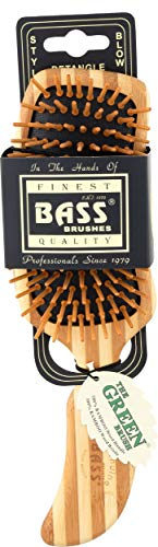 "Bass Brushes | The Green Brush | Bamboo Pin + Bamboo Handle Hair Brush | Semi""S"""