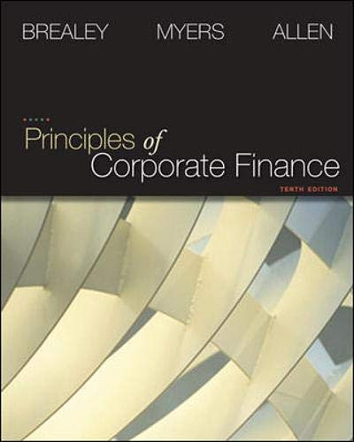 Principles of Corporate Finance (Finance, Insurance, and...