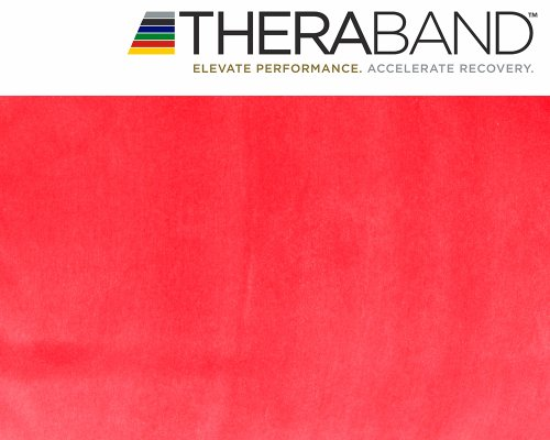 Original Thera-Band 2,5m rot + Original 24-seitiges Übungsbuch gratis