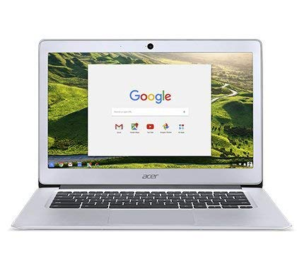 Newest Acer 14inch Flagship Chromebook, Intel Quad-Core Atom E8000 Up to 2.00GHz Processor, 4GB RAM,32GB SSD, WiFi, HDMI, Chrome OS-(Renewed) (Silver/Atom)