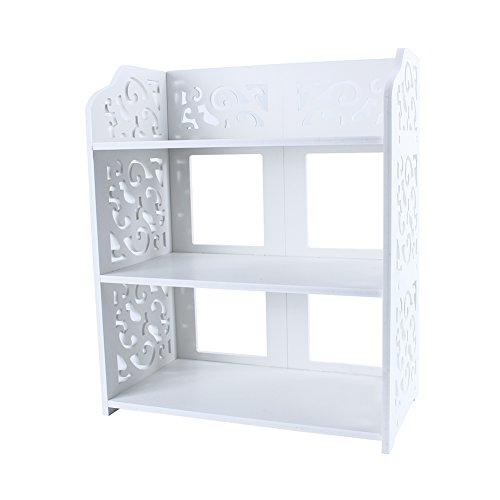 Leku Scarpiera, Qualità premium Scarpiera in legno con 3 livelli per Porta d'ingresso principale ,Soggiorno ,Corridoio, bianca