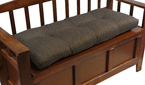 Klear Vu The Gripper Non-Slip Tufted Omega Universal Bench Cushion, Chestnut, 36'