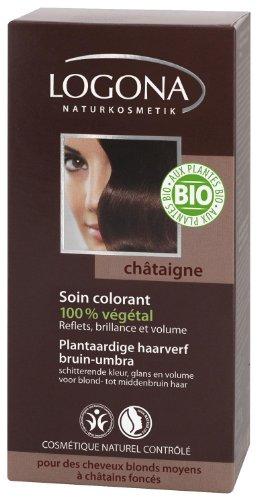 Pflanzen-Haarfarbe-Pulver - Braun-Umbra
